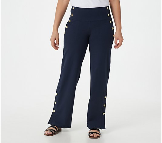 Women with Control Regular Tummy Control Sailor Pants w/ Button Details