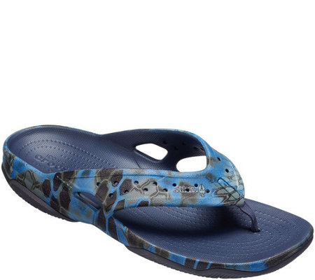 Crocs Men's Sandals - Swiftwater Kryptek Neptune Deck Flip