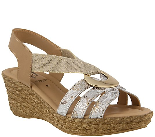 Spring Step Leather Slingback Sandals - Misi