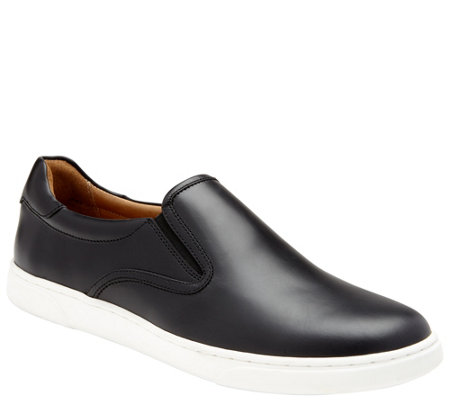 Vionic Men's Leather Slip-on Sneakers - Mott Brody Leather