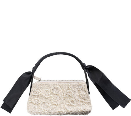 Violet Brooks Ady Pearl And Satin Purse
