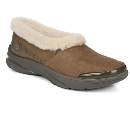 BZees Faux-Fur Topline Slip-On Shoes - Lovable
