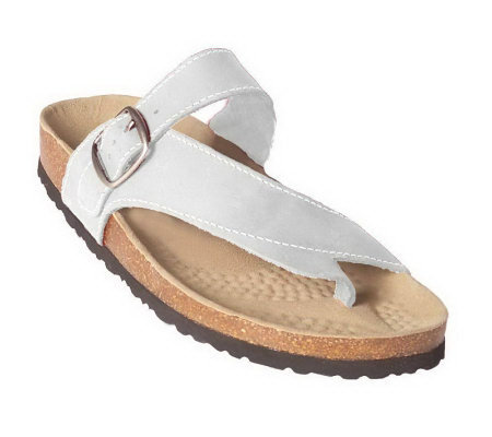 801f62af537 White Mountain Carly Leather Thong Sandals w Ankle Strap. Back to video