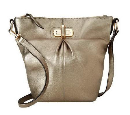 B Makowsky Glove Leather Convertible Crossbody Bag