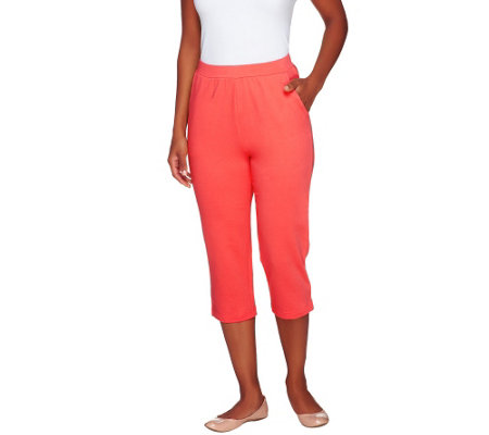 Denim & Co. Active French Terry Slim Leg Capri Pants