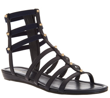 Marc Fisher Leather Gladiator Sandals w/Studs - Pritty