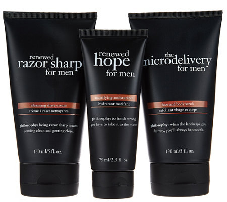 philosophy prep, shave & hydrate trio for men