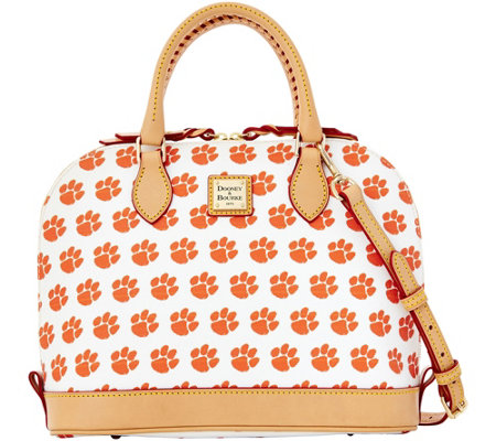 Dooney & Bourke NCAA Clemson University Zip Zip Satchel
