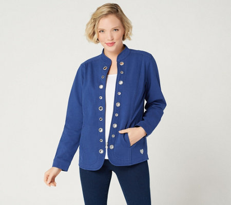 Quacker Factory DreamJeannes Glam Grommet Jacket
