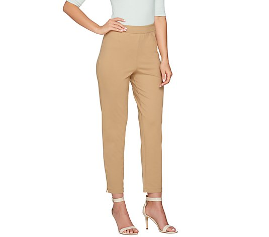 Joan Rivers Signature Knit Pull-on Ankle Pants