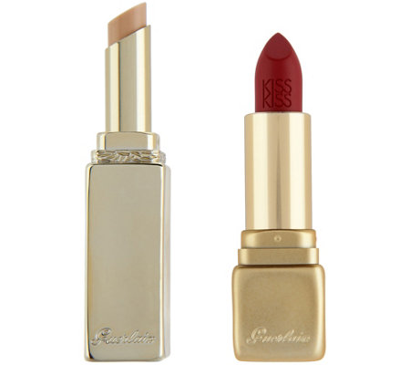 Guerlain KissKiss Lipstick with LipLift Lip Primer