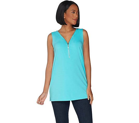 Belle by Kim Gravel Essentials TripleLuxe Knit Tunic Tank