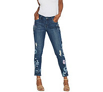 Laurie Felt Classic Denim Embroidered Slim Leg Jeans - A305697