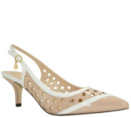 J. Renee Mid Heel Slingback Pumps - Adalyn