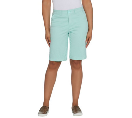 NYDJ Stretch Bermuda Shorts - Pale Cabana