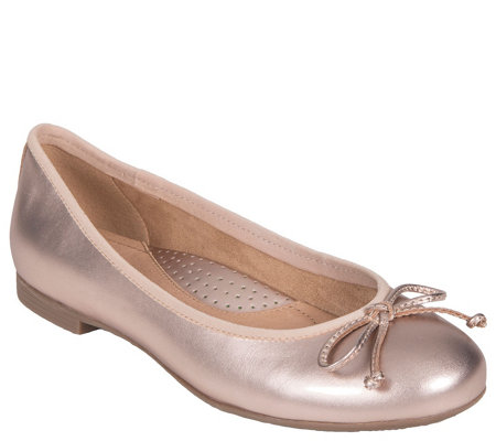 Earth Leather Slip-On Flats - Allegro