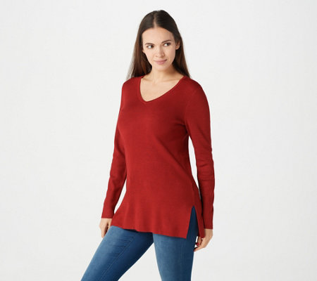 Linea by Louis Dell 'Olio Whisper Knit V-Neck Sweater