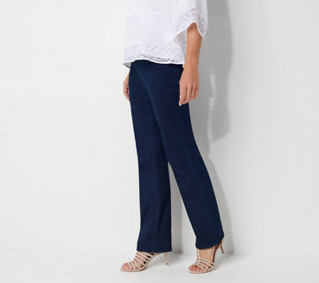 NYDJ Marilyn Straight-Leg Jeans w/ Double Button - Rinse