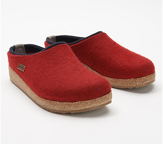 Haflinger Grizzly Felt Clogs - Kris