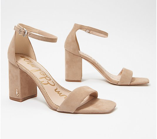 Sam Edelman Leather Block Heeled Sandals - Daniella