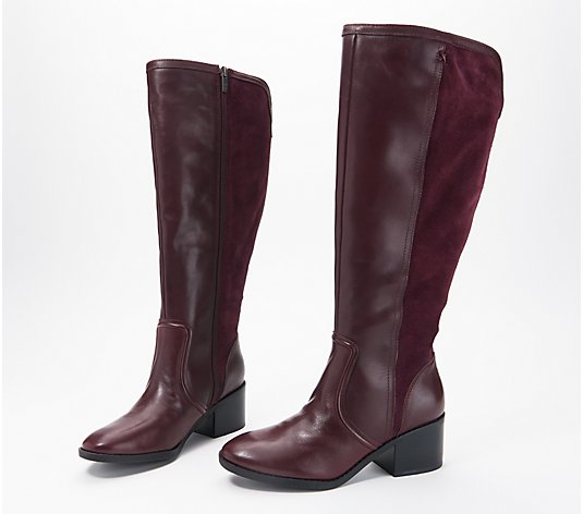 """As Is"" Marc Fisher Wide Calf Leather Tall Shaft Boots - Riyea"
