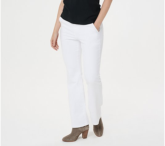 """As Is"" BROOKE SHIELDS Timeless Petite Flare Jeans- White"