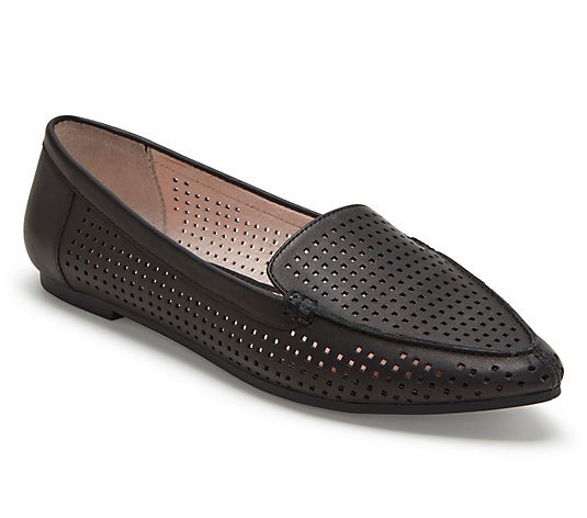 Me Too Leather Slip On Loafers - Aleeza