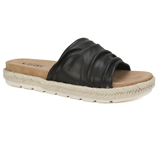 Cliffs by White Mountain Slip-On Leather SlideSandals - Torri