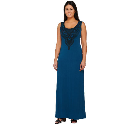 Lisa Rinna Collection Sleeveless Printed Knit Maxi Dress