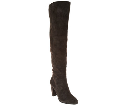 Franco Sarto Over the Knee Suede Boots - Hespiria