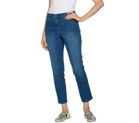 Studio by Denim & Co. Petite Classic Denim Ankle Jeans