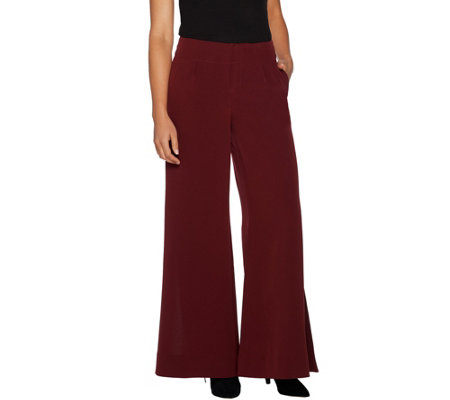 Peace Love World Palazzo Pants with Side Slits