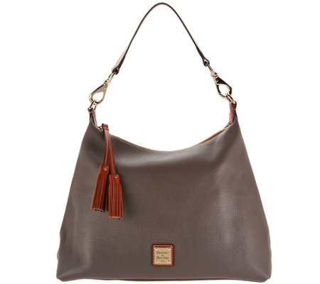 """As Is"" Dooney & Bourke Pebble Leather Hobo Handbag- Juliette"