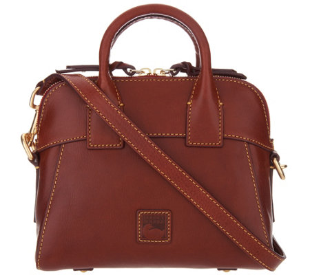 """As Is"" Dooney & Bourke Florentine Crossbody Satchel-Cameron"