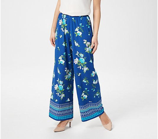 Joan Rivers Regular Mixed Print Pull-On Palazzo Pants