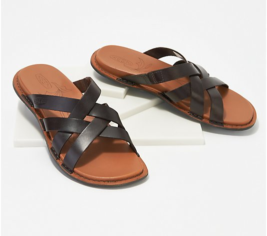 KEEN Leather Slip-On Slide Sandals- Sofia