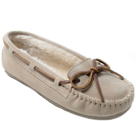Minnetonka Suede Slippers - Cally