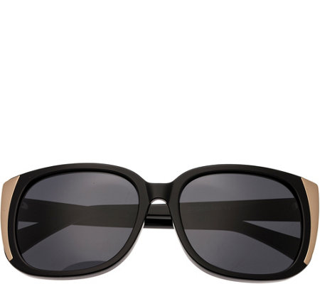 Bertha Natalia Black Sunglasses w/ Polarized Lenses