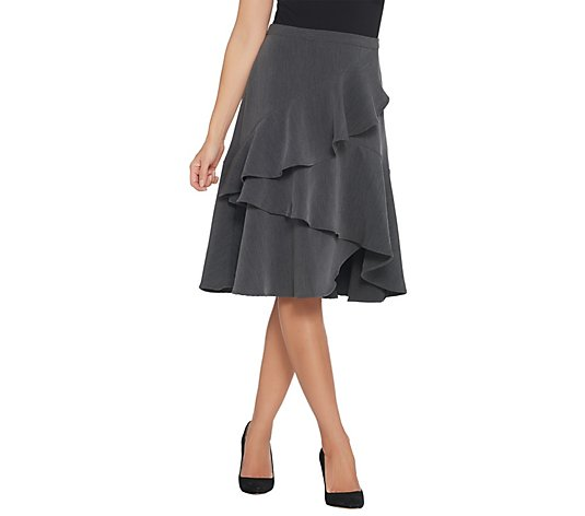 """As Is"" Vince Camuto Tiered Ruffle Crepe Skirt"
