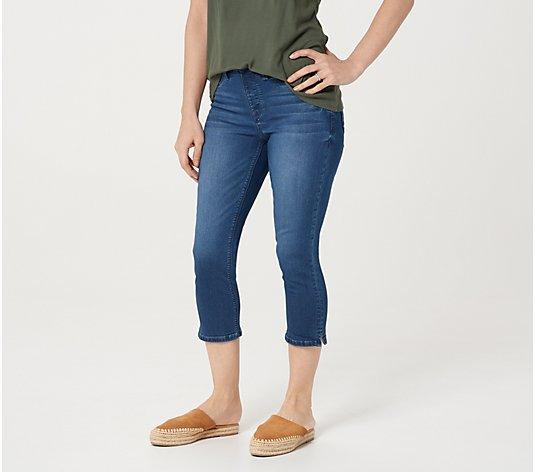Laurie Felt Regular Silky Denim Capri Pull-On Jeans