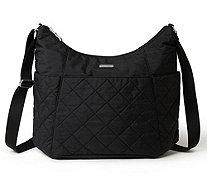 baggallini Quilted Hobo Tote with RFID Wristlet - A413098