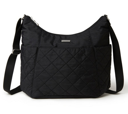 baggallini Quilted Hobo Tote with RFID Wristlet - Page 1 — QVC.com 465ad39f96231