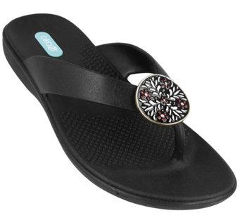 3f7b6316a921e OkaB Enamel Pendant Sandals - Brianne - A415398