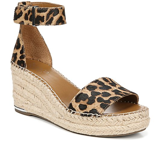 Franco Sarto Haircalf Espadrille Wedge Sandals- Clemens 2
