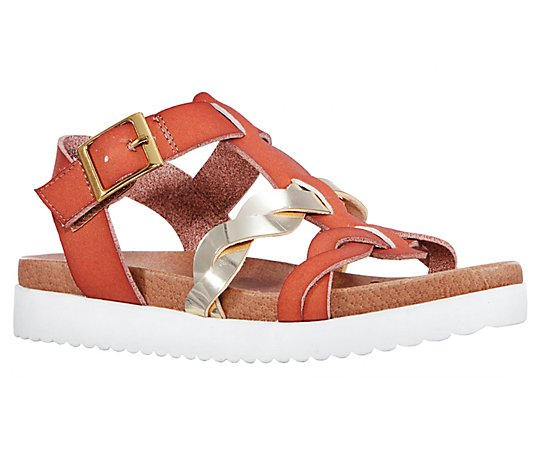 Nina Girl's Braided Strappy Sandals - Adria
