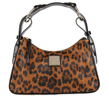 Dooney Bourke Leopard Print Zip Top Handbag