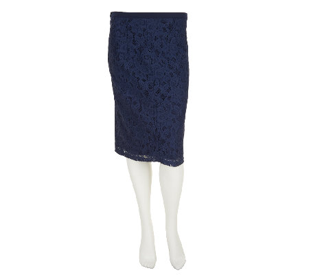Status by Star Jones Lace Knit Pencil Skirt