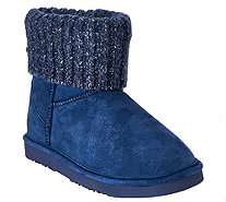 Lamo Suede Water Resistant Boots with Sweater Cuff - Empire - A269999