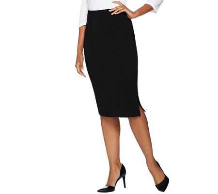 Women with Control Petite Tummy Control Pencil Skirt
