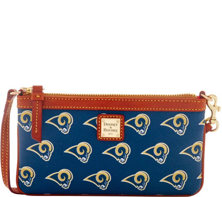 Dooney & Bourke NFL Rams Large Slim Wristlet